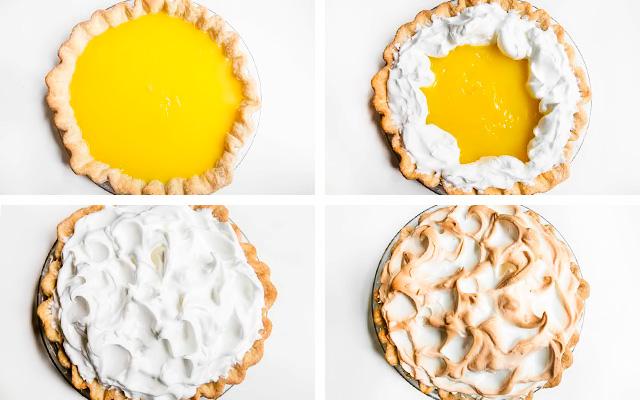 пирог с безе и лимонной начинкой рецепт с фото