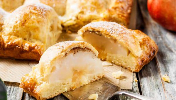 Пирог с творогом и яблоками: рецепты с фото
