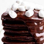 шоколадные оладьи панкейки рецепт с фото
