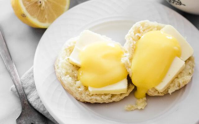 лимонный заварной курд