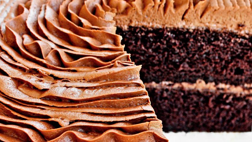 Шоколадный быстрый торт