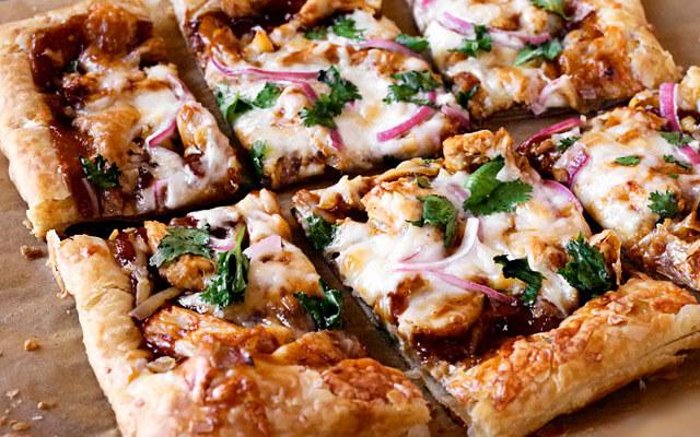 слоёная пицца в духовке рецепт